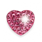 Rose Crystal Heart 10mm